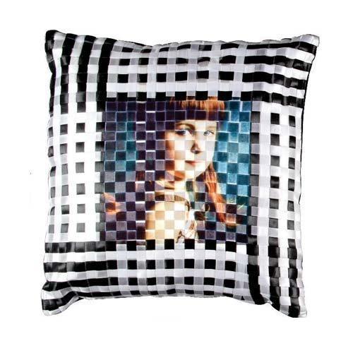 Black & White Check Cushion