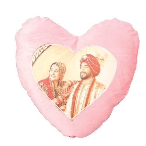 Pink Velvet Heart Cushion