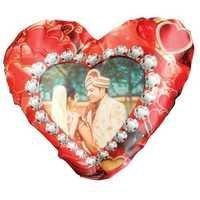 Printed Heart Cushion