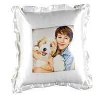 White Plain 16x16 Square Cushion