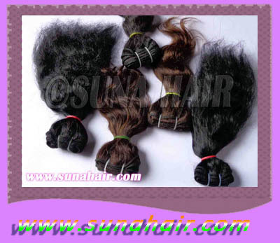 Machine Weft Beautiful Indian Silky Curly Virgin R