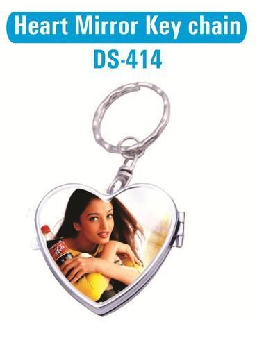 Heart Mirror Keychain