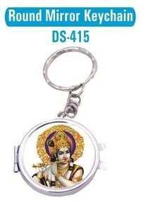 Round Mirror Keychain