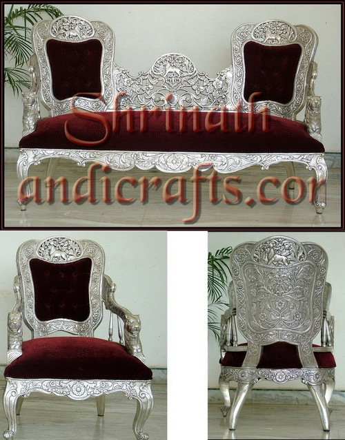 Silver or Metal Mounted Sofa Sets