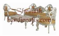 Silver or White Metal Furniture