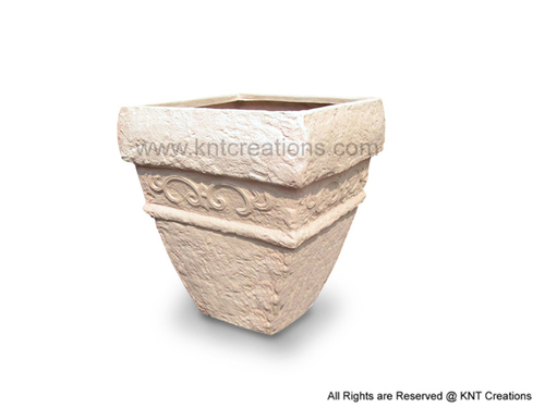 Vertical Stone Art Planter