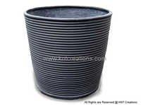 Charcoal Rib Circular Planter