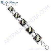 Party Wear New Fashionable Multi Stones Bracelets, Loose Gemstone Bracelets Jewelry