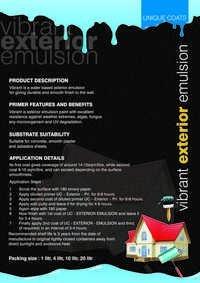 vibrant exterior emulsion