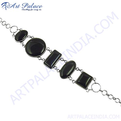 Latest Black Onyx Gemstone Bracelets For Men & Women's
