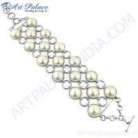 New 2013 White Pearl Loose Beads Bracelets Jewelry