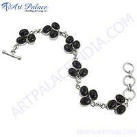 Graceful Flower Style Black Onyx Gemstone Bracelets Jewelry