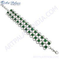 Latest New Green Onyx Loose Gemstone Bracelets Jewelry, 925 Sterling Silver