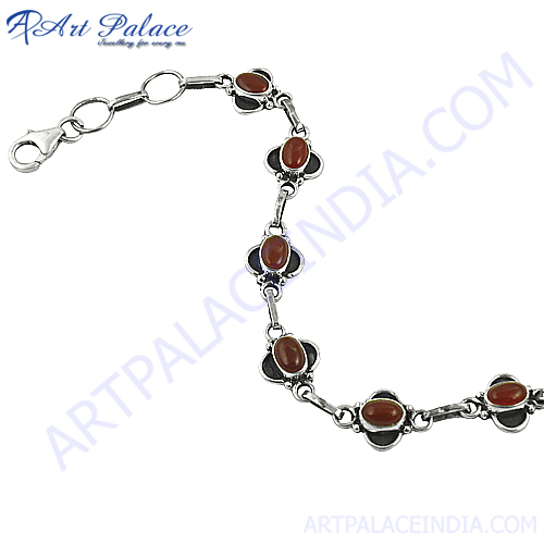 Bright Red Onyx Gemstone Bracelets Jewelry For Any Occasion
