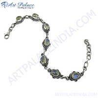 New Rainbow Moonstone Silver Gemstone Bracelets Jewelry