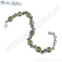 New White Chalcedony Gemstone Silver Bracelets Jewelry