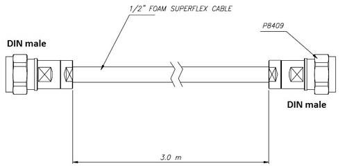 Din Male To Din Male 3 Meter Half Inch Superflexib