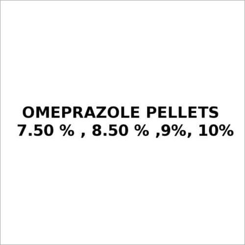 Omeprazole Pellets 7.50 % , 8.50 % ,9%, 10%