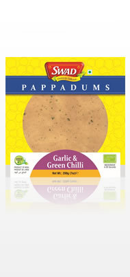 Garlic & Green Chilli Papad