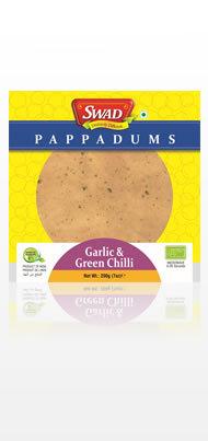Garlic & Green Chilli Papad