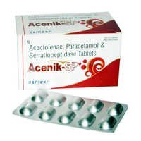 Aceclofenac-100mg + Paracetamol-325mg + Serratiope