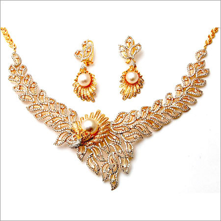 Indian Pearl Diamond Necklace