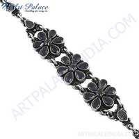 2013 Ethnic Design In Plain Silver Gemstone Bracelets Jewelry, 925 Sterling Silver Jewelry