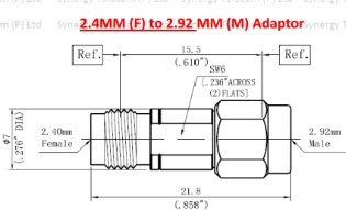 2.44 mm f to 2.92 mm m adaptor