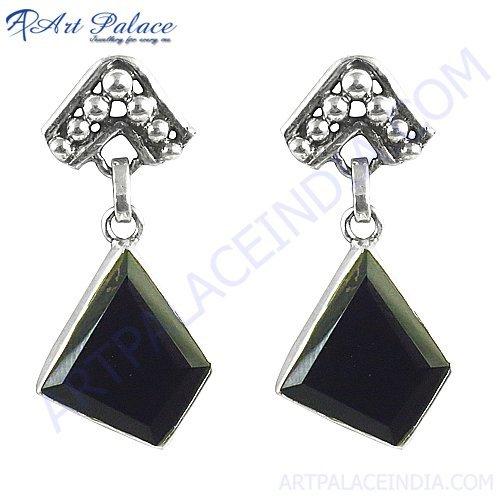 New Fashion Design Cut & Fancy Stone Silver Earrings Jewelry, 925 sterling silver