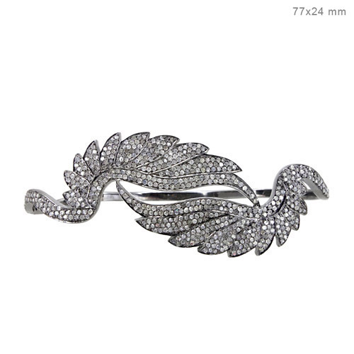Pave Diamond Palm Bracelet Jewelry