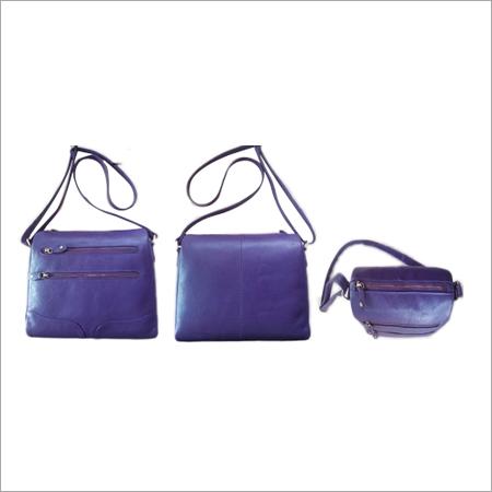 PURPLE Leather Shoulder Bag
