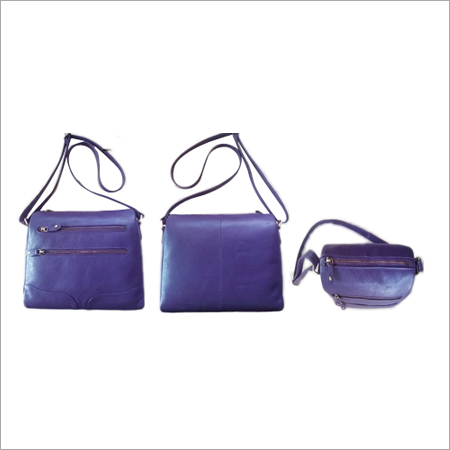 Purple Leather Shoulder Bag
