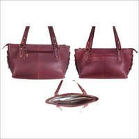 Brown Pdm Ladies Leather Bag
