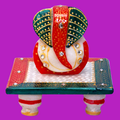 Load Ganesh Ji With Choki