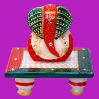 Load Ganesh Ji With Choki