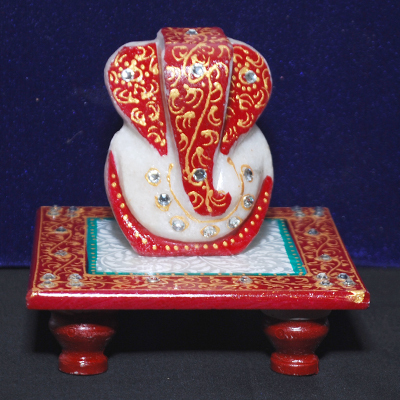 Marble Ganesh Ji With Choki