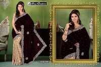 Half Velvet saree