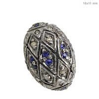 Sapphire Diamond Pave Spacer Beads Finding Jewelry