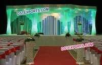Royal Crystal Six Pillar Mandap Set