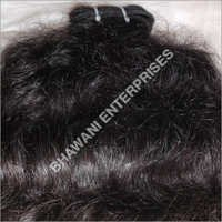 Curly Human Hair Machine weft