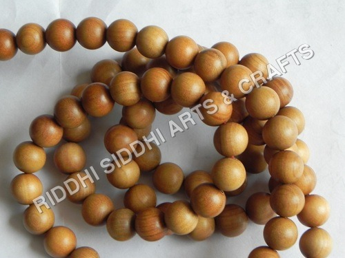 Sandalwood Finished Beads