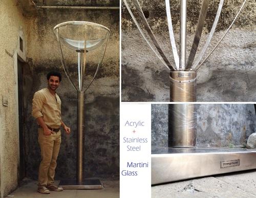 Acrylic Steel Martini Glass