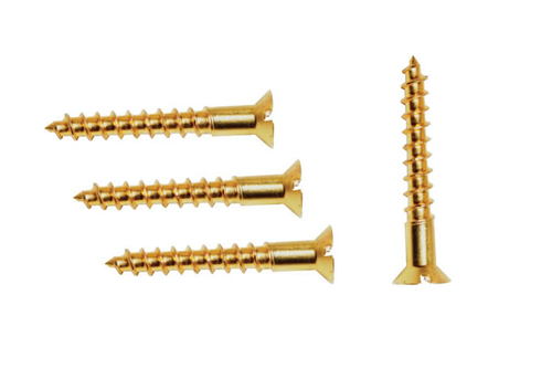 Brass Slotted Csk Flat Head Screws