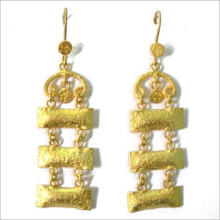 Gold Polished Earrings