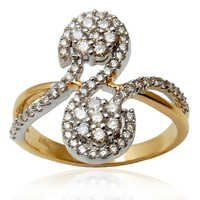 Latest Design Diamond Yellow Gold  Ring