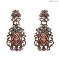 Pave Diamond Vintage Dangle Earrings