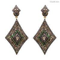 Diamond Tsavorite Earrings Jewelry