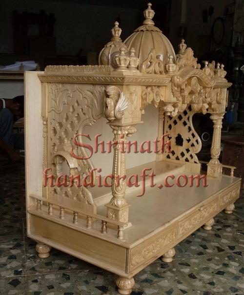 Carved Teak Temple