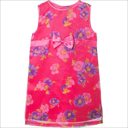 Girls Flowers Layered Dress