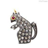 Pave Diamond Gemstone Charm Jewelry